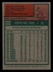 1975 Topps Mini #565   Joe Torre Back Thumbnail