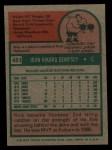 1975 Topps #451   Rick Dempsey Back Thumbnail