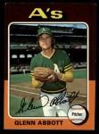 1975 Topps #591   Glenn Abbott Front Thumbnail