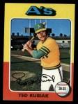 1975 Topps #329   Ted Kubiak Front Thumbnail
