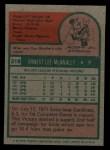 1975 Topps #318   Ernie McAnally Back Thumbnail