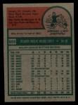 1975 Topps #655   Rico Carty Back Thumbnail