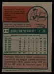 1975 Topps #111   Wayne Garrett Back Thumbnail