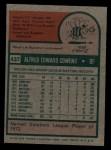 1975 Topps #437  Al Cowens  Back Thumbnail