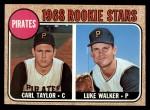 1968 Topps #559  Pirates Rookies  -  Carl Taylor / Luke Walker Front Thumbnail
