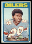 1972 Topps #78   Ken Houston Front Thumbnail