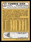 1968 Topps #429  Tommie Sisk  Back Thumbnail