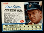 1962 Post Cereal #72   Gene Green  Front Thumbnail