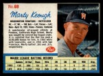 1962 Post Cereal #69  Marty Keough   Front Thumbnail