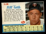 1962 Post Cereal #88  Bill Tuttle   Front Thumbnail