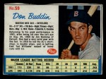 1962 Post Cereal #59  Don Buddin   Front Thumbnail
