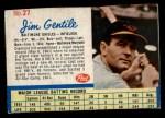 1962 Post Cereal #27 BAL  Jim Gentile  Front Thumbnail
