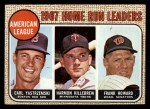 1968 Topps #6  1967 AL Home Run Leaders  -  Frank Howard / Harmon Killebrew / Carl Yastrzemski Front Thumbnail