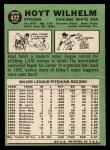 1967 Topps #422   Hoyt Wilhelm Back Thumbnail