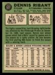 1967 Topps #527   Dennis Ribant Back Thumbnail