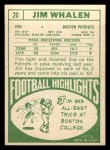 1968 Topps #20  Jim Whalen  Back Thumbnail