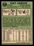 1967 Topps #57   Pat Jarvis Back Thumbnail