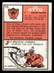 1966 Topps #115   Jim Otto Back Thumbnail
