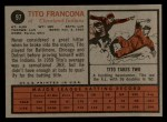 1962 Topps #97   Tito Francona Back Thumbnail