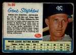 1962 Post Cereal #95 A Gene Stephens   Front Thumbnail