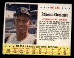1963 Jello #143  Roberto Clemente  Front Thumbnail