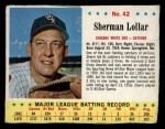 1963 Jello #42   Sherman Lollar Front Thumbnail