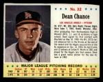 1963 Jello #32  Dean Chance  Front Thumbnail