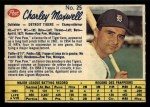 1962 Post Canadian #25   Charlie Maxwell Front Thumbnail