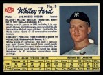 1962 Post Canadian #9 ERR  Whitey Ford Front Thumbnail