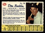 1962 Post Canadian #59  Don Buddin  Front Thumbnail