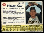 1962 Post Canadian #179   Vern Law Front Thumbnail