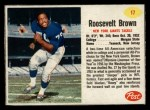1962 Post #17  Roosevelt Brown  Front Thumbnail
