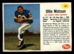 1962 Post #167  Ollie Matson  Front Thumbnail