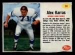 1962 Post #50  Alex Karras  Front Thumbnail