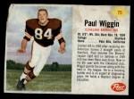 1962 Post #75  Paul Wiggin  Front Thumbnail