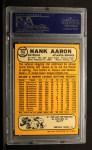 1968 Topps #110   Hank Aaron Back Thumbnail