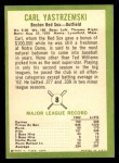 1963 Fleer #8  Carl Yastrzemski  Back Thumbnail