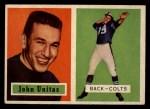 1957 Topps #138   Johnny Unitas Front Thumbnail