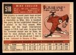 1959 Topps #518  Mike Cuellar  Back Thumbnail