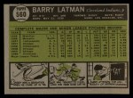 1961 Topps #560  Barry Latman  Back Thumbnail