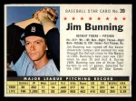 1961 Post Cereal #39 COM  Jim Bunning  Front Thumbnail