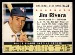 1961 Post Cereal #33 COM  Jim Rivera  Front Thumbnail