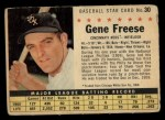 1961 Post Cereal #30 COM  Gene Freese  Front Thumbnail