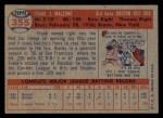 1957 Topps #355   Frank Malzone Back Thumbnail