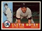 1960 Topps #109  Clete Boyer  Front Thumbnail