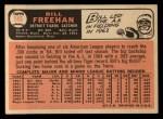 1966 Topps #145   Bill Freehan Back Thumbnail