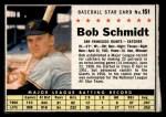1961 Post Cereal #151 BOX  Bob Schmidt Front Thumbnail