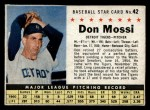 1961 Post Cereal #42 BOX Don Mossi   Front Thumbnail
