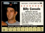1961 Post Cereal #100 BOX  Billy Consolo  Front Thumbnail