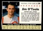 1961 Post Cereal #189 BOX  Jim O'Toole Front Thumbnail